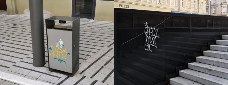 Wandalizm na ulicy Święty Marcin