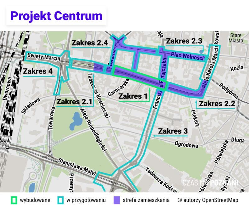 Poznań Projekt Centrum. Święty Marcin, Ratajczaka, 27 Grudnia, Kantaka, Gwarna i Al. Marcinkowskiego