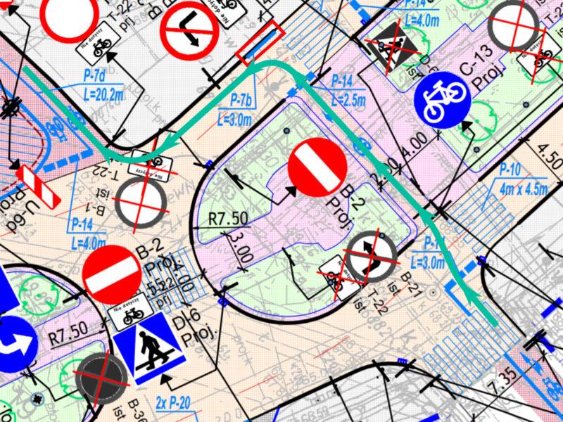 Jak będziemy jechać rowerem z Paderewskiego na plac Wolności? Mniej wygodnie, niż dziś