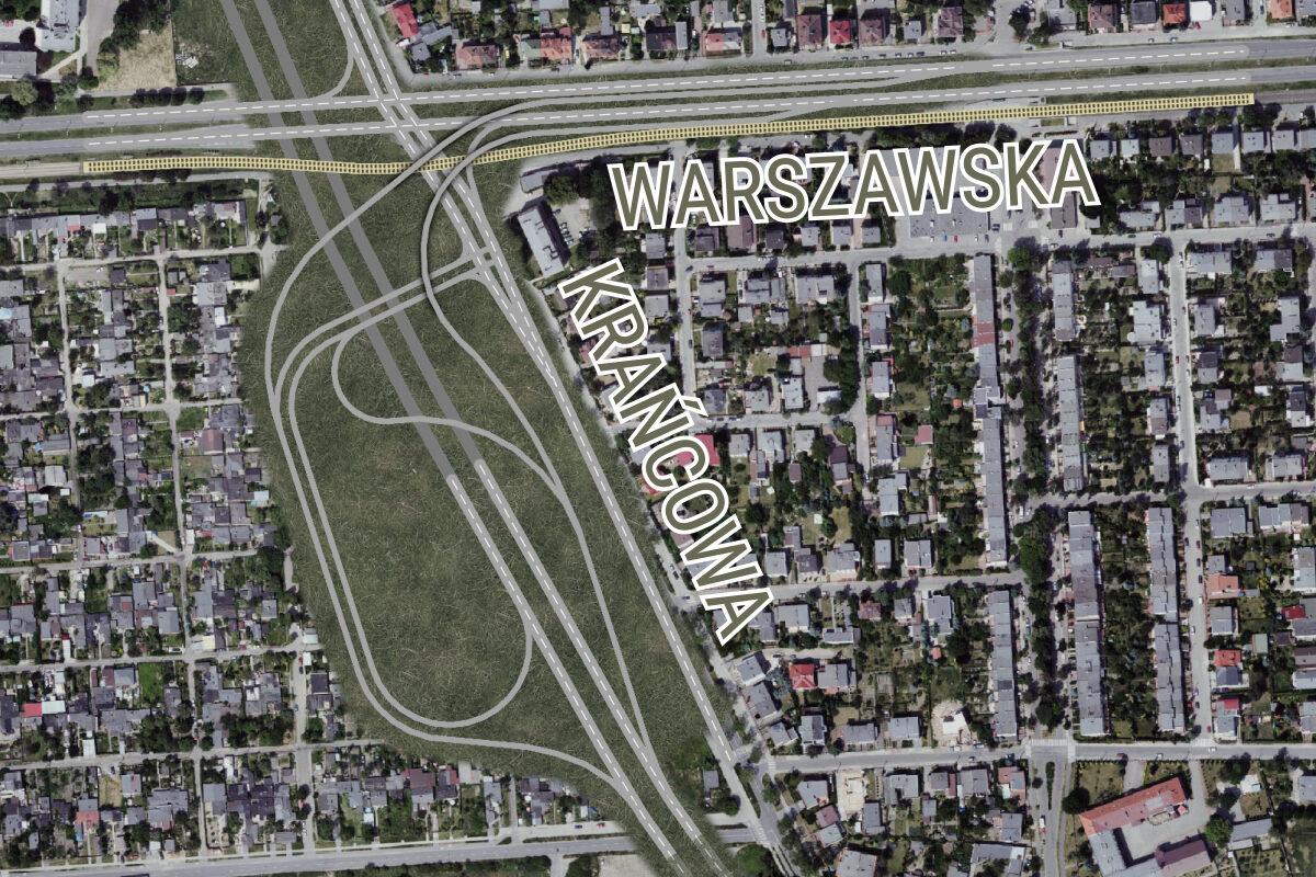 Rekonstrukcja projektu Trasy Rataje - Krańcowa na wysokości ulicy Warszawskiej. Chartowo, Żegrze, Jezioro Maltańskie, Zoo