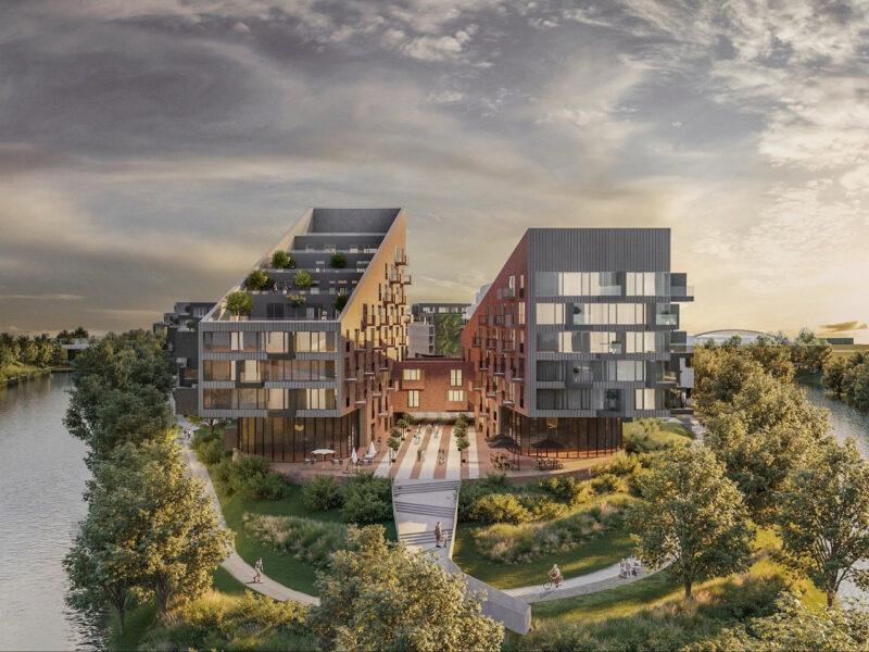 Wizualizacja nowej dzielnicy na Ostrowie Tumskim przy dawnej Elektrociepłowni Garbary. Źródło: Robyg