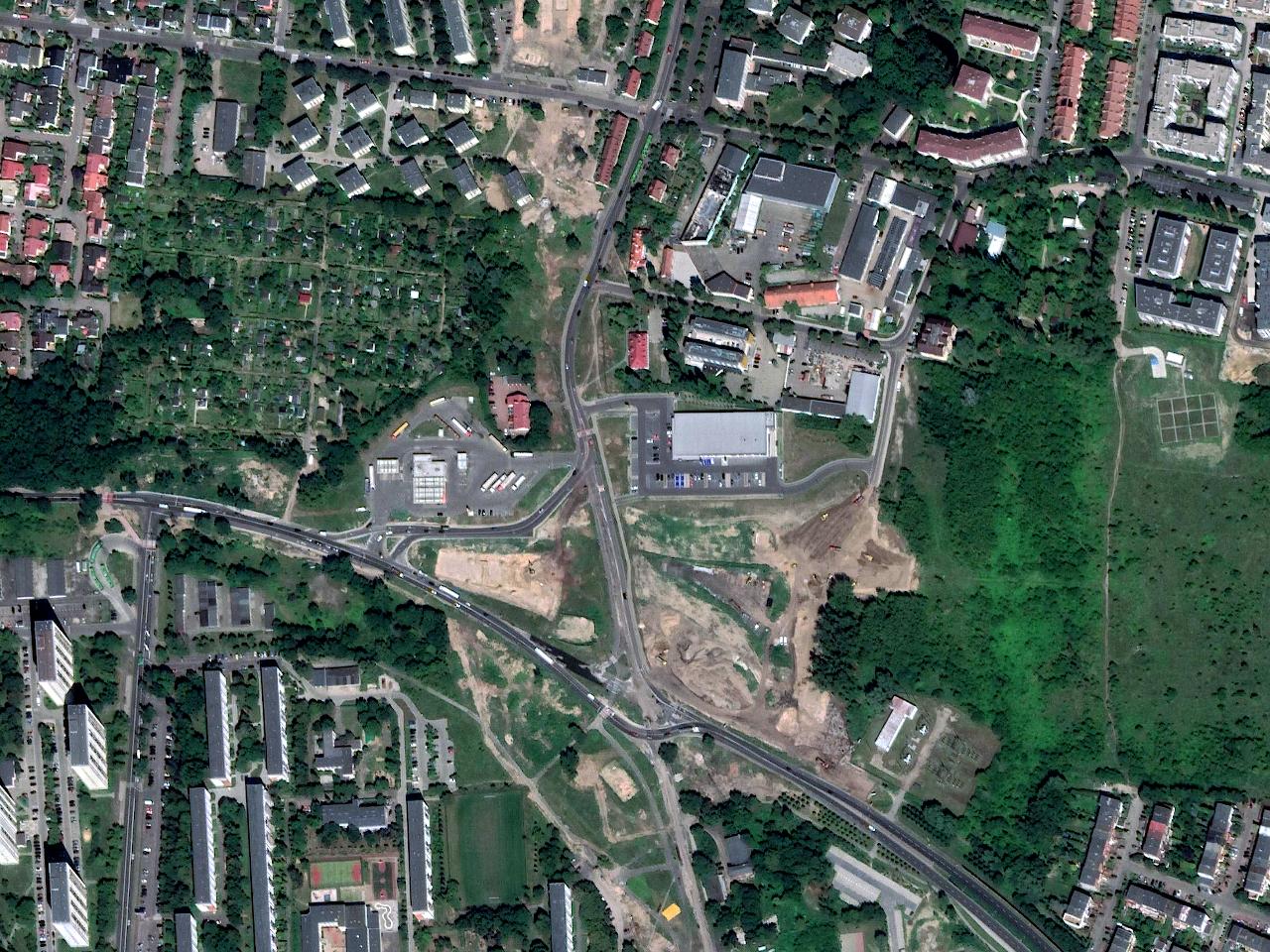 Ulica Naramowicka: budowa tramwaju na Naramowice i węzła z ulicą Lechicką