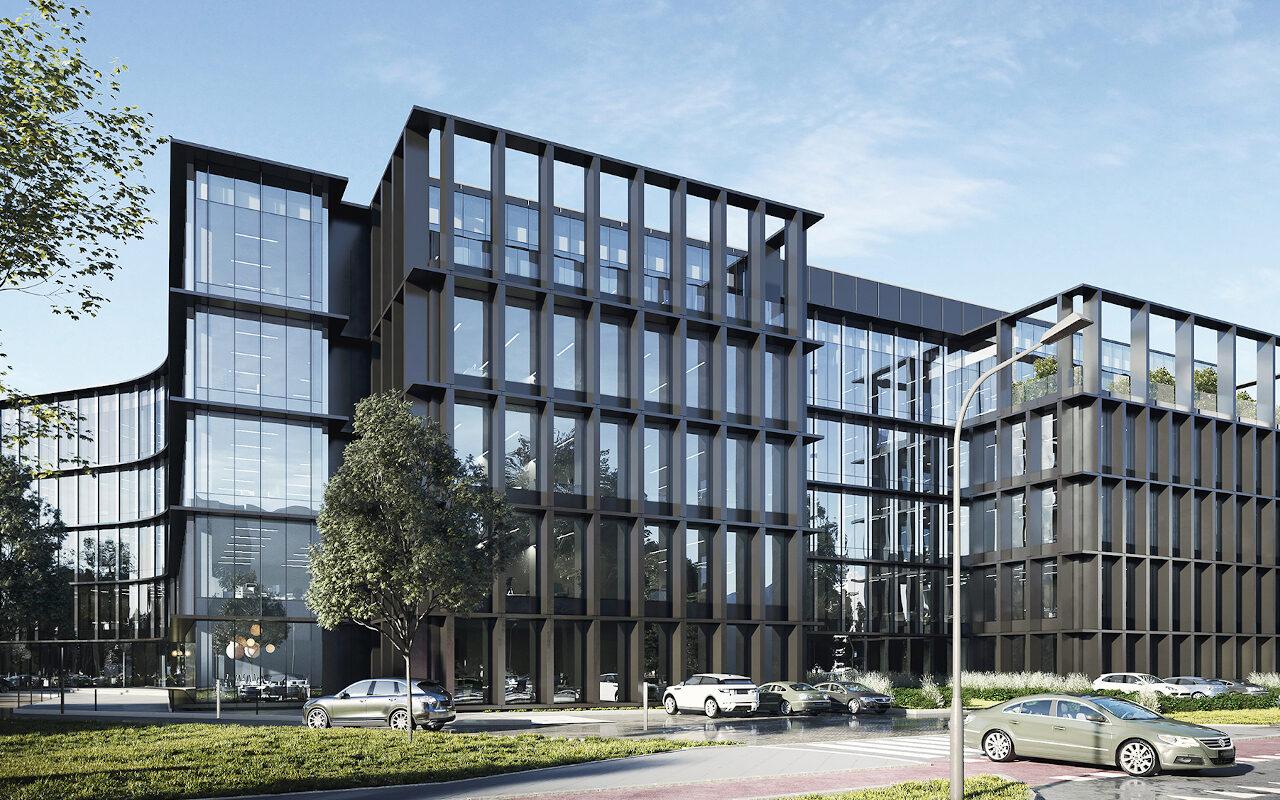 Przy Posnanii (Brneńska / Milczańska)zamiast Kauflandu mógł powstać biurowiec. Ujawniamy projekt. Źródło: CDF Architekci