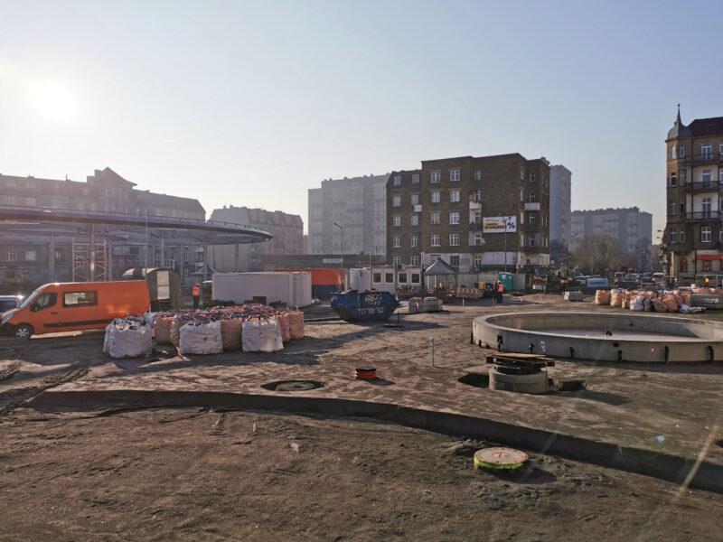 Rynek Łazarski widziany z okolic ul. Niegolewskich. Odnowa centrum Poznania