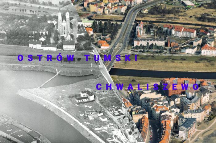 Poznań 70 lat temu i dziś. Zobacz efekt budowy Trasy Solnej i nowego koryta Warty